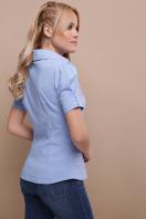 . блуза Эльза к/р. Цвет: голубой недорого