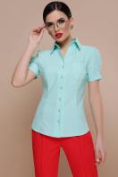 персиковая блузка с коротким рукавом. блуза Эльза к/р. Цвет: мята купить