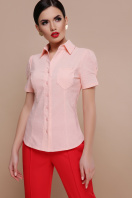 персиковая блузка с коротким рукавом. блуза Эльза к/р. Цвет: персик купить