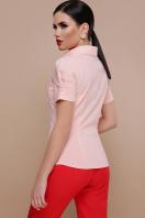 персиковая блузка с коротким рукавом. блуза Эльза к/р. Цвет: персик цена