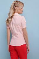 персиковая блузка с коротким рукавом. блуза Эльза к/р. Цвет: персик в Украине