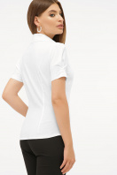 персиковая блузка с коротким рукавом. блуза Эльза к/р. Цвет: белый цена