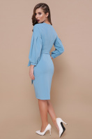 васильковое платье с запахом. Платье Одри д/р. Цвет: голубой цена
