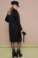 темно-синее классическое пальто. пальто П-323-100. Цвет: черный купить