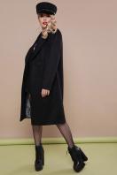 темно-синее классическое пальто. пальто П-323-100. Цвет: черный в интернет-магазине