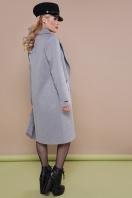 темно-синее классическое пальто. пальто П-323-100. Цвет: серый цена