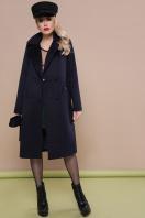 темно-синее классическое пальто. пальто П-323-100. Цвет: т.синий купить