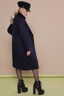 темно-синее классическое пальто. пальто П-323-100. Цвет: т.синий цена