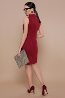 деловое бордовое платье. платье-жилет Жасмин. Цвет: бордо цена
