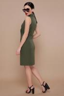 деловое бордовое платье. платье-жилет Жасмин. Цвет: св.хаки цена
