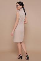 деловое бордовое платье. платье-жилет Жасмин. Цвет: св. бежевый цена