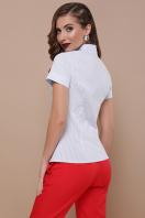 офисная блузка в полоску. блуза Рубьера к/р. Цвет: голубая м.полоска купить