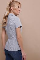 . блуза Рубьера к/р. Цвет: серая м. полоска цена