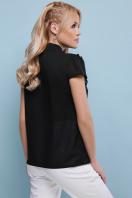 черная блузка с бантом. блуза Федерика к/р. Цвет: черный цена