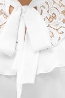 черная блузка с бантом. блуза Федерика к/р. Цвет: белый в интернет-магазине