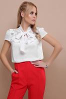 черная блузка с бантом. блуза Федерика к/р. Цвет: белый в Украине