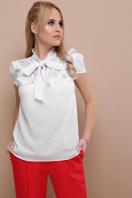 черная блузка с бантом. блуза Федерика к/р. Цвет: белый недорого