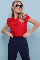 черная блузка с бантом. блуза Федерика к/р. Цвет: красный в интернет-магазине
