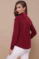 черная блузка с длинным рукавом. блуза Кери д/р. Цвет: бордо купить