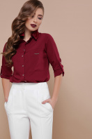 черная блузка с длинным рукавом. блуза Кери д/р. Цвет: бордо цена