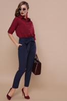 деловая темно-зеленая рубашка. блуза Кери д/р. Цвет: бордо в интернет-магазине