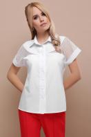 белая блузка со вставками. блуза Сафо к/р. Цвет: белый купить