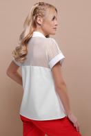 белая блузка со вставками. блуза Сафо к/р. Цвет: белый цена