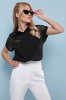 белая блузка со вставками. блуза Сафо к/р. Цвет: черный цена