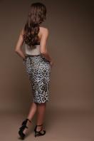 облегающая леопардовая юбка. Леопард юбка Алина. Цвет: принт цена