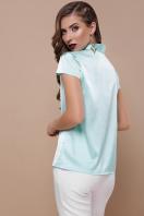мятная блузка с бантом. блуза Филипа к/р. Цвет: мята купить