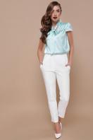 мятная блузка с бантом. блуза Филипа к/р. Цвет: мята в интернет-магазине