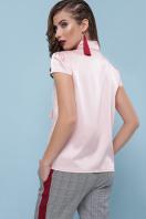 мятная блузка с бантом. блуза Филипа к/р. Цвет: персик купить