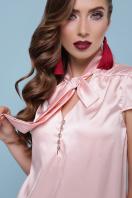 мятная блузка с бантом. блуза Филипа к/р. Цвет: персик цена