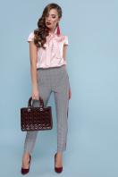 мятная блузка с бантом. блуза Филипа к/р. Цвет: персик в интернет-магазине