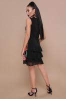 цветастое платье без рукавов. Цветочная феерия платье Эдита б/р. Цвет: черный купить
