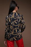 черная блузка с принтом. Перья-цепи блуза Эльвира д/р. Цвет: принт купить