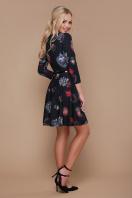 короткое платье с юбкой полусолнце. Подвески сердце платье Глория К д/р. Цвет: черный купить