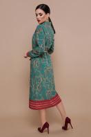 зеленое платье рубашка. Ремешки-цепи платье-рубашка Зарина д/р. Цвет: изумруд цена
