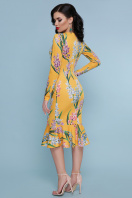 желтое платье с цветочным принтом. Гиацинты платье Фаина д/р. Цвет: желтый цена