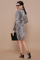 леопардовое платье с длинным рукавом. Леопард платье Азиза д/р. Цвет: принт купить
