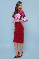 бордовое платье с розами. Розы платье Джес д/р. Цвет: бордо купить