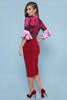 бордовое платье с розами. Розы платье Джес д/р. Цвет: бордо цена