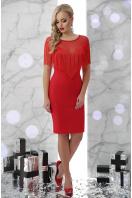 ярко-синее платье с бахромой. платье Шерон 2 б/р. Цвет: красный купить