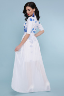 цветастое платье со съемной юбкой. Голубые цветы платье Кейтлин к/р. Цвет: белый купить