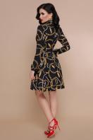 черное платье с цепями. Перья-цепи платье Эльнара д/р. Цвет: принт цена