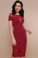 . платье Владана 2 к/р. Цвет: бордо цена