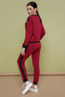 повседневный бордовый костюм. Костюм Флирт. Цвет: бордо купить