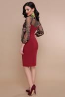 бордовое платье с вышивкой. платье Флоренция В д/р. Цвет: бордо купить