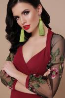 бордовое платье с вышивкой. платье Флоренция В д/р. Цвет: бордо цена