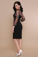 бордовое платье с вышивкой. платье Флоренция В д/р. Цвет: черный цена